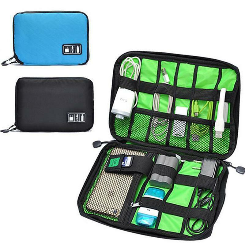 travel charger cable organizer bag case holder pounch