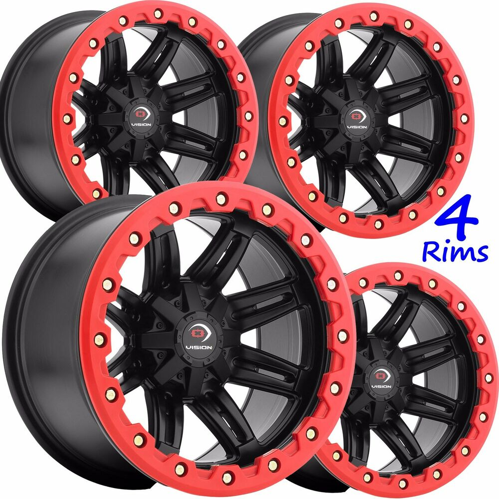 Atv Rims Wheel Covers : Four atv rims wheels some suzuki vision type lip armor