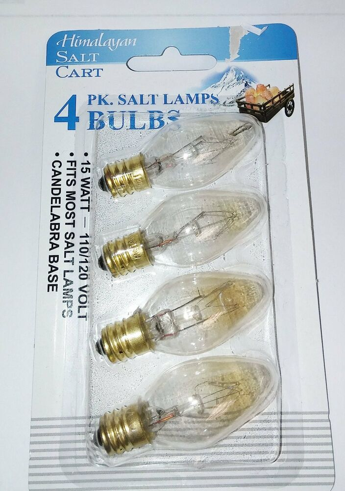4-pack Himalayan Salt Lamp Bulbs 15 Watt 15W 4-15WCARD eBay