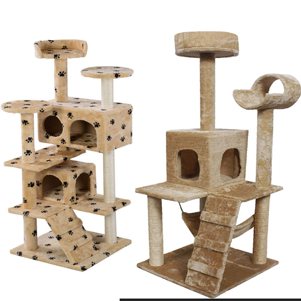 cat tree tower condo furniture scratch post kitty pet. Black Bedroom Furniture Sets. Home Design Ideas