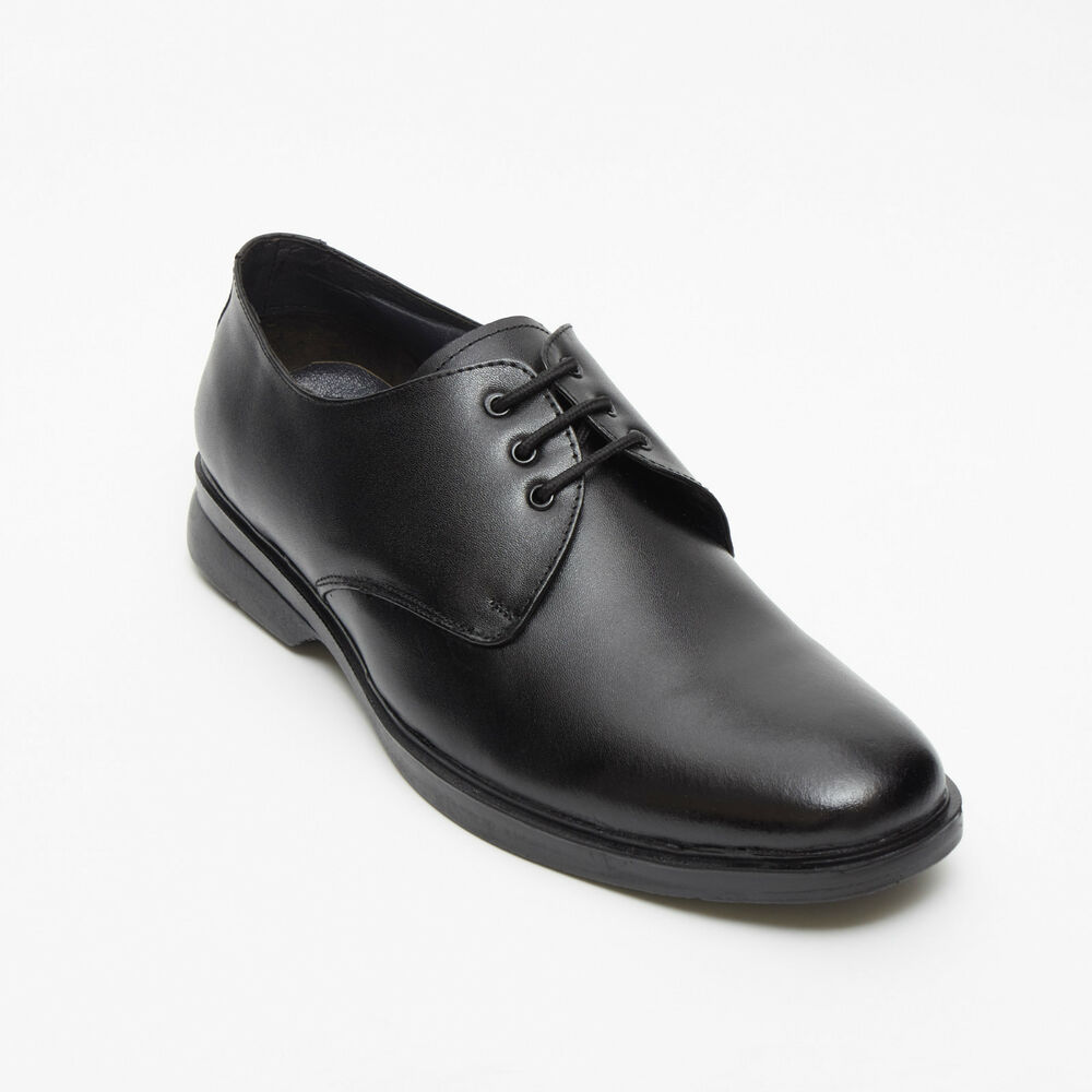 mens classic leather derby shoes ebay