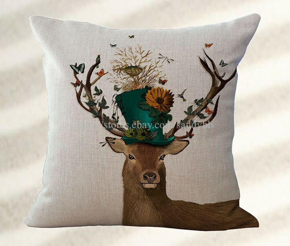 Deer Cushion Cover Replacement Outdoor Cushion Throw