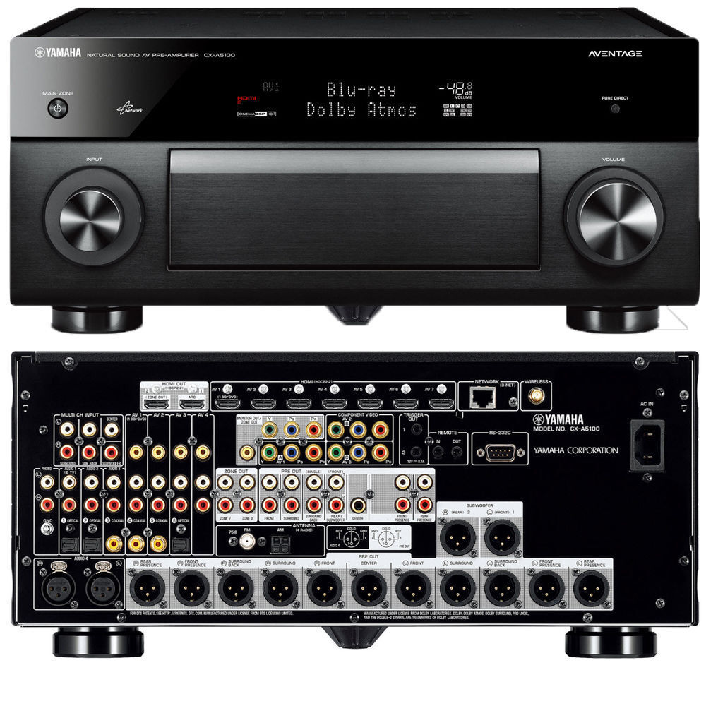 brand new yamaha aventage cx a5100 11 2 ch preamplifier. Black Bedroom Furniture Sets. Home Design Ideas