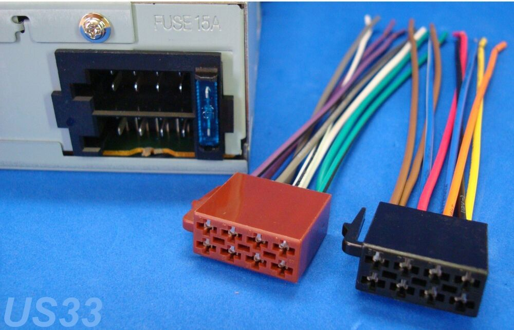 jensen car stereo wiring harness    jensen    radio power plug    stereo    wire    harness    male back clip     jensen    radio power plug    stereo    wire    harness    male back clip