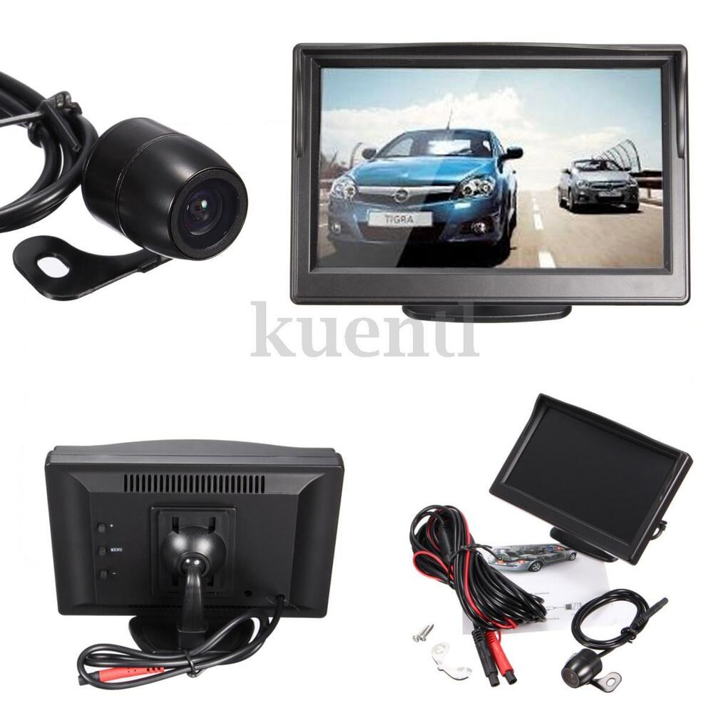 Car Rear View System Kit Backup Reverse Camera Night
