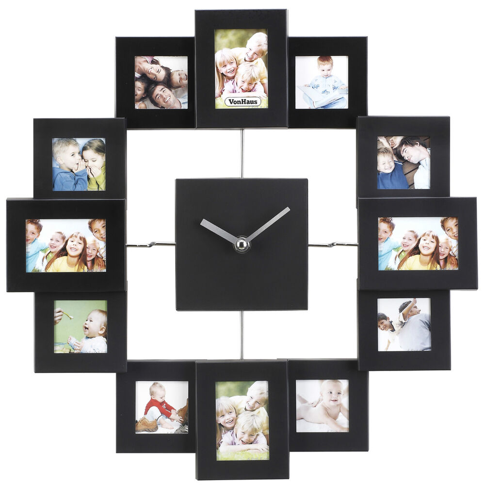 Vonhaus Black Aluminium Modern Multi 12 Picture Photo