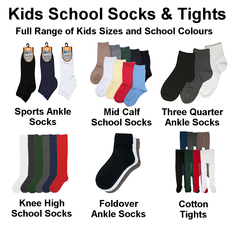 954744320 Details about Premium Cotton School Socks