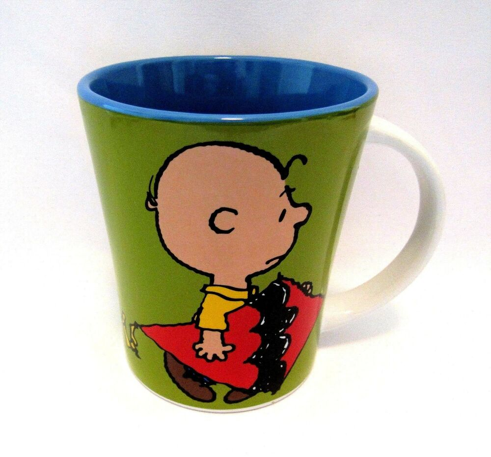 Charlie Brown Coffee Cup Stoneware 15 Oz A Man Has To Do
