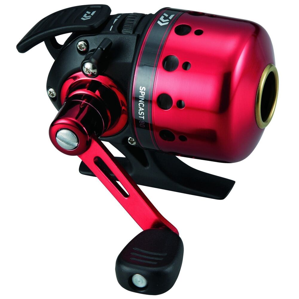 Genuine daiwa closed face reel 14 spin cast 80 for black for Push button fishing reel