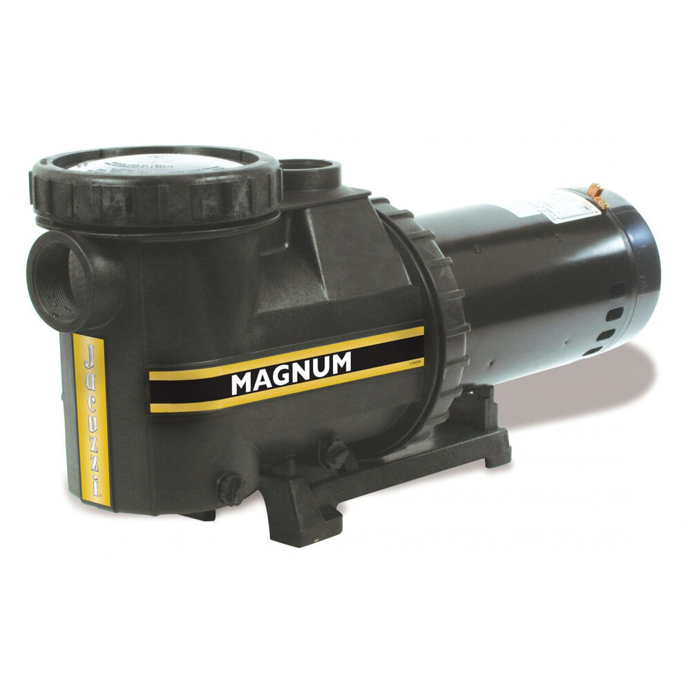 Jacuzzi magnum 1 5 hp inground single speed swimming pool for Jacuzzi pumps and motors
