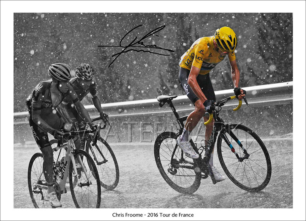 CHRIS FROOME SIGNED PRINT POSTER PHOTO AUTOGRAPH 2016 TOUR ...