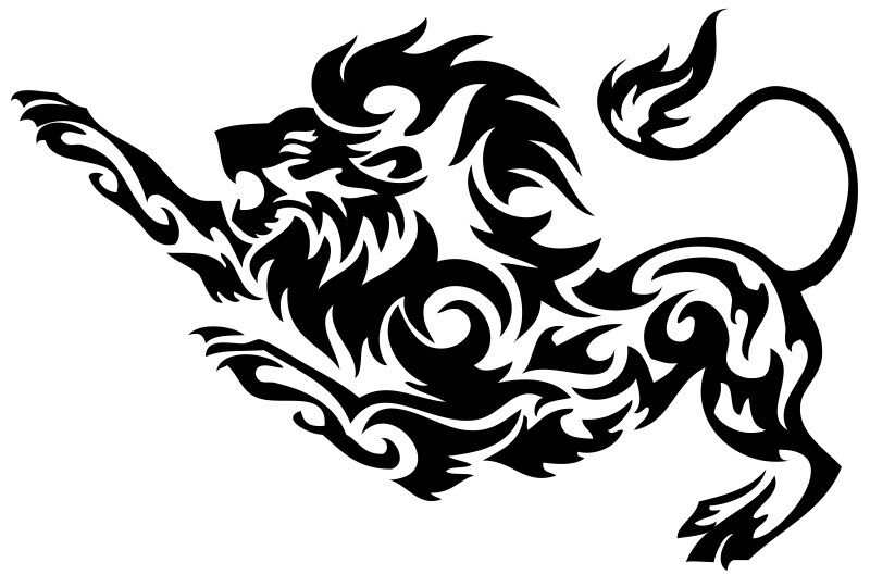 Nr193 Tribal Tattoo Tiger Lion Panther Decal Vinyl