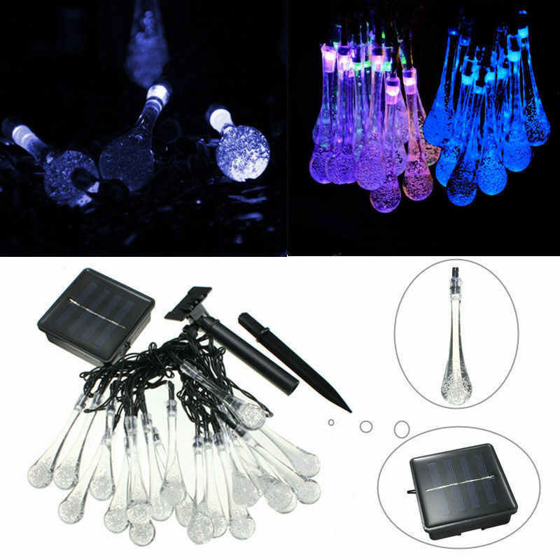 Led Icicle String Lights With Ice Drop : LED Meteor Falling Star Rain Drop Lcicle Snow Fall Xmas String Fairy Light Bulb eBay