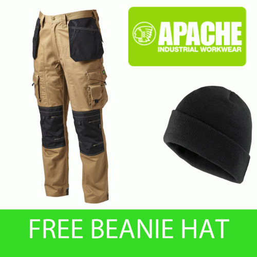 Apache Knee Pad Holster Work Trouser APKHT- STONE - Beanie Included