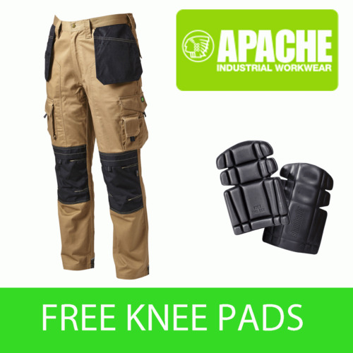 Apache Knee Pad Holster Work Trouser APKHT- STONE - Knee Pads Included