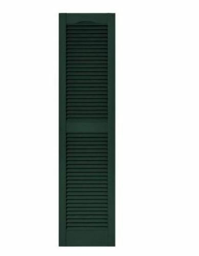 15 In X 60 In Louvered Vinyl Exterior Shutters Pair