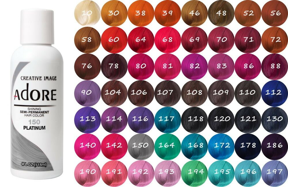 Adore By Creative Image Semi Permanent Hair Dye Color