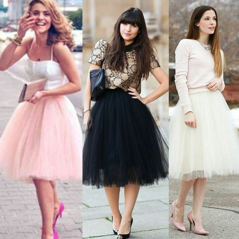 Women Girls Princess Ballet Tulle Tutu Skirt Wedding Prom Fancy Dance Mini Dr