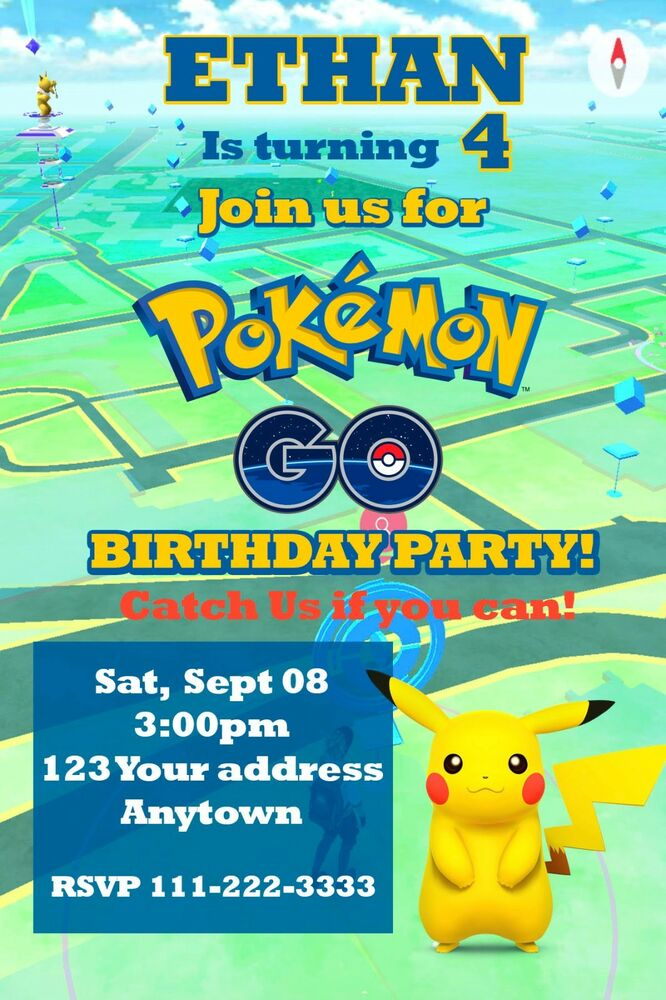 Pokemon Party Invitations with adorable invitations template