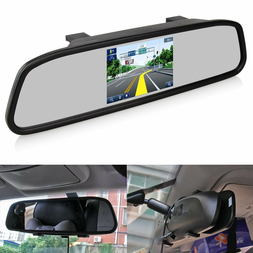 4 3 tft lcd monitor mirror screen car back up camera for Mirror screen