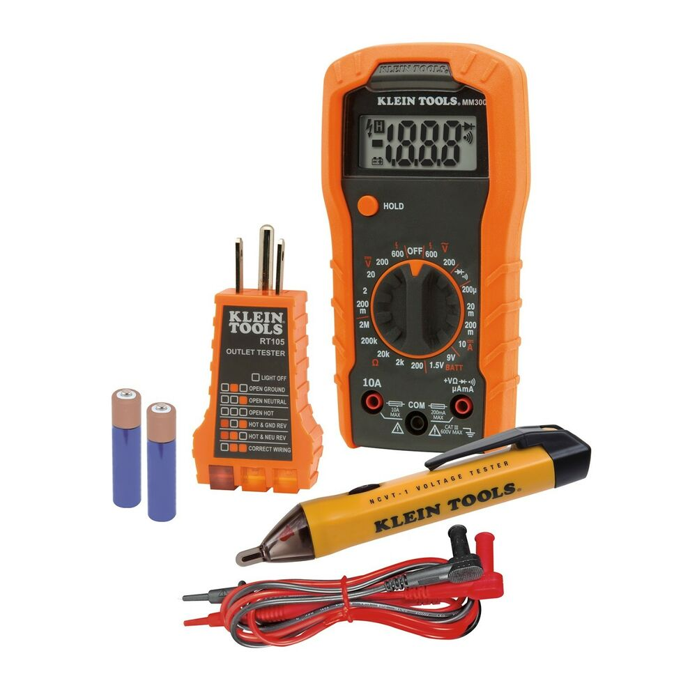 All In One Electrical Testers : Klein electrical test kit mm multimeter ncvt