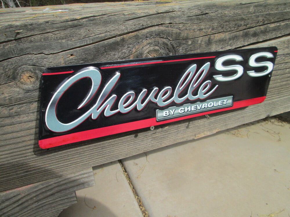 Chevrolet Chevy Chevelle Ss Embossed Metal Signs Man Cave