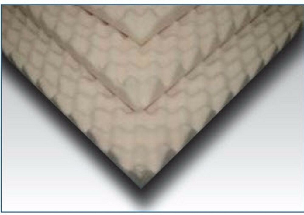 Egg Crate Convoluted Foam Mattress Pad 4 Inch Topper