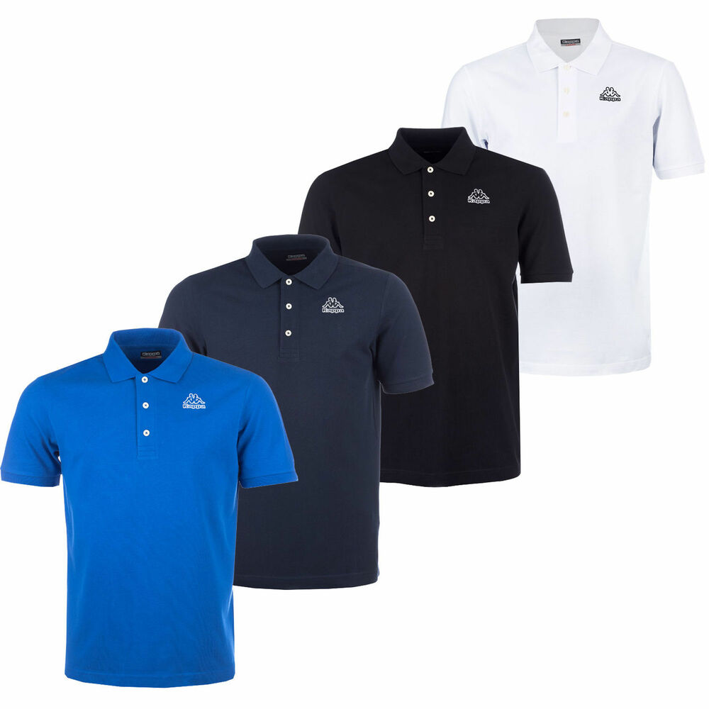 New mens kappa polo shirt t shirt top retro vintage golf for Branded polo t shirts
