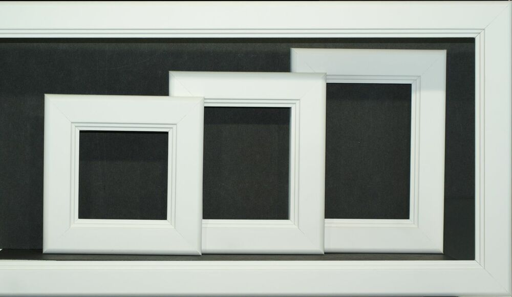 Cpf Square White Picture Frame W Glass From 4x4 Thru