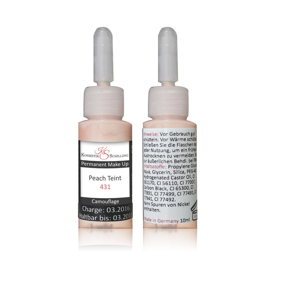 permanent makeup farbe peach teint highlights camouflage 10ml ebay. Black Bedroom Furniture Sets. Home Design Ideas