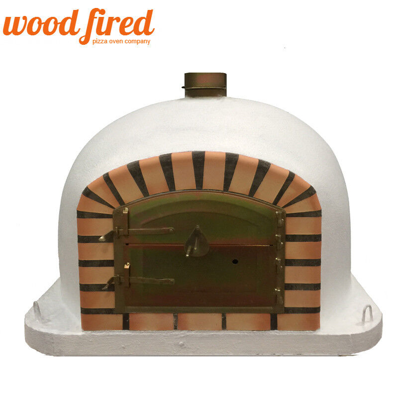 Yard, Garden & Outdoor Living Brick Wood Fired Pizza Oven 100cm White Deluxe-corner Black Door Keep You Fit All The Time