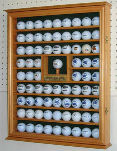 Shadow Box Wall Cabinet To Hold 76 Golf Balls Great Golf