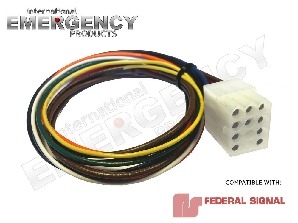 Federal Signal Pa300 Ss2000 Wiring Harness Power Plug Cable Fire Ems