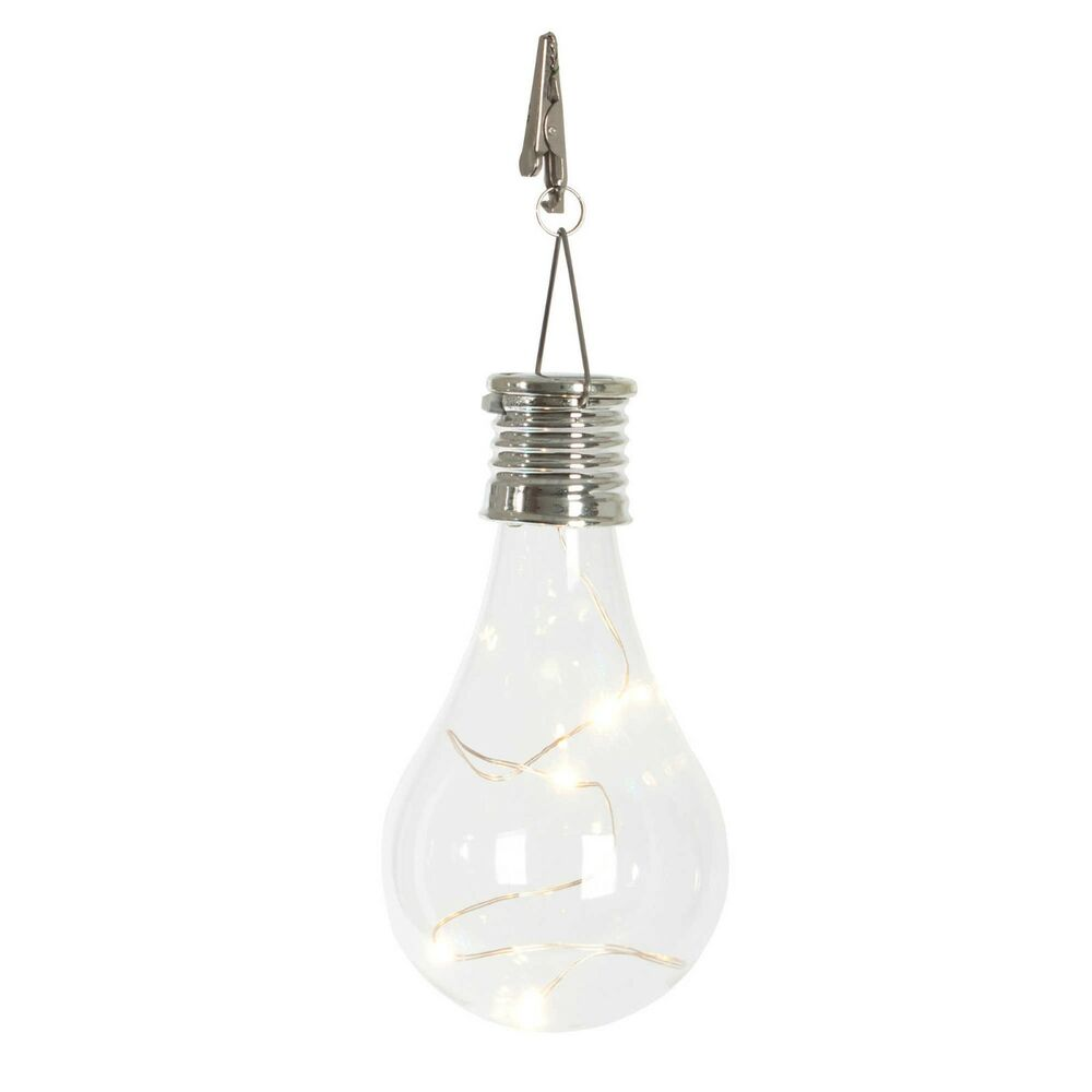 solar edison bulb light clip clip on in clear energy efficient hanging led light ebay. Black Bedroom Furniture Sets. Home Design Ideas