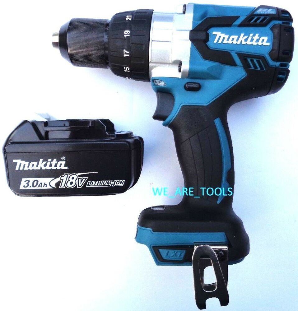 new makita 18v xph07 lxt brushless 1 2 hammer drill 1. Black Bedroom Furniture Sets. Home Design Ideas