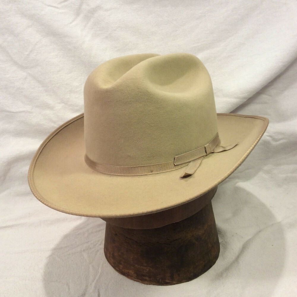 bc965013333 Details about Silverbelly Stetson Hat Open Road 3X Beaver with Silverbelly  Band Vintage Hat