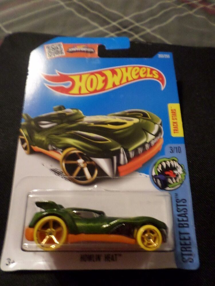 Treasure Hunt List >> HW HOT WHEELS 2016 HW TREASURE HUNT STREET BEASTS #3/10 HOWLIN' HEAT HOTWHEELS | eBay