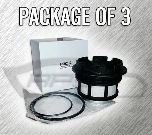 fuel filter f59292 w/ cap for 7.3l turbo diesel - case of ... 7 3 fuel filter housing diagram #5