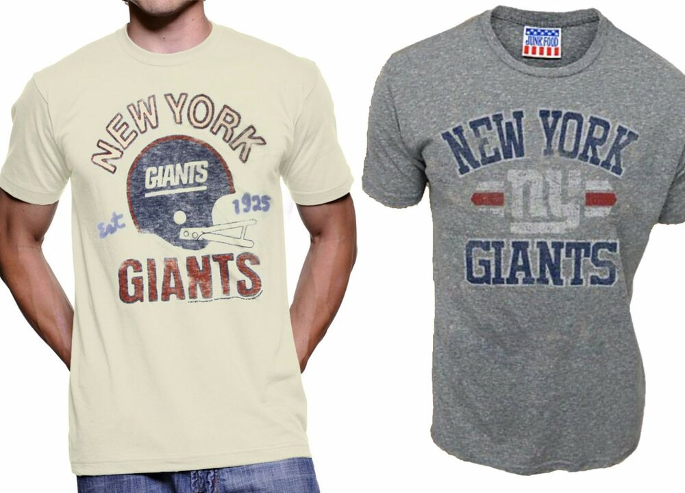 50d01def4 Details about Choose Adult Junk Food NFL Football New York NY Giants Team T-Shirt  Tee Shirt