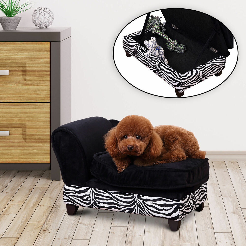 pawhut hundesofa hundecouch mit stauraum katzen sofa hundebett haustier ebay. Black Bedroom Furniture Sets. Home Design Ideas