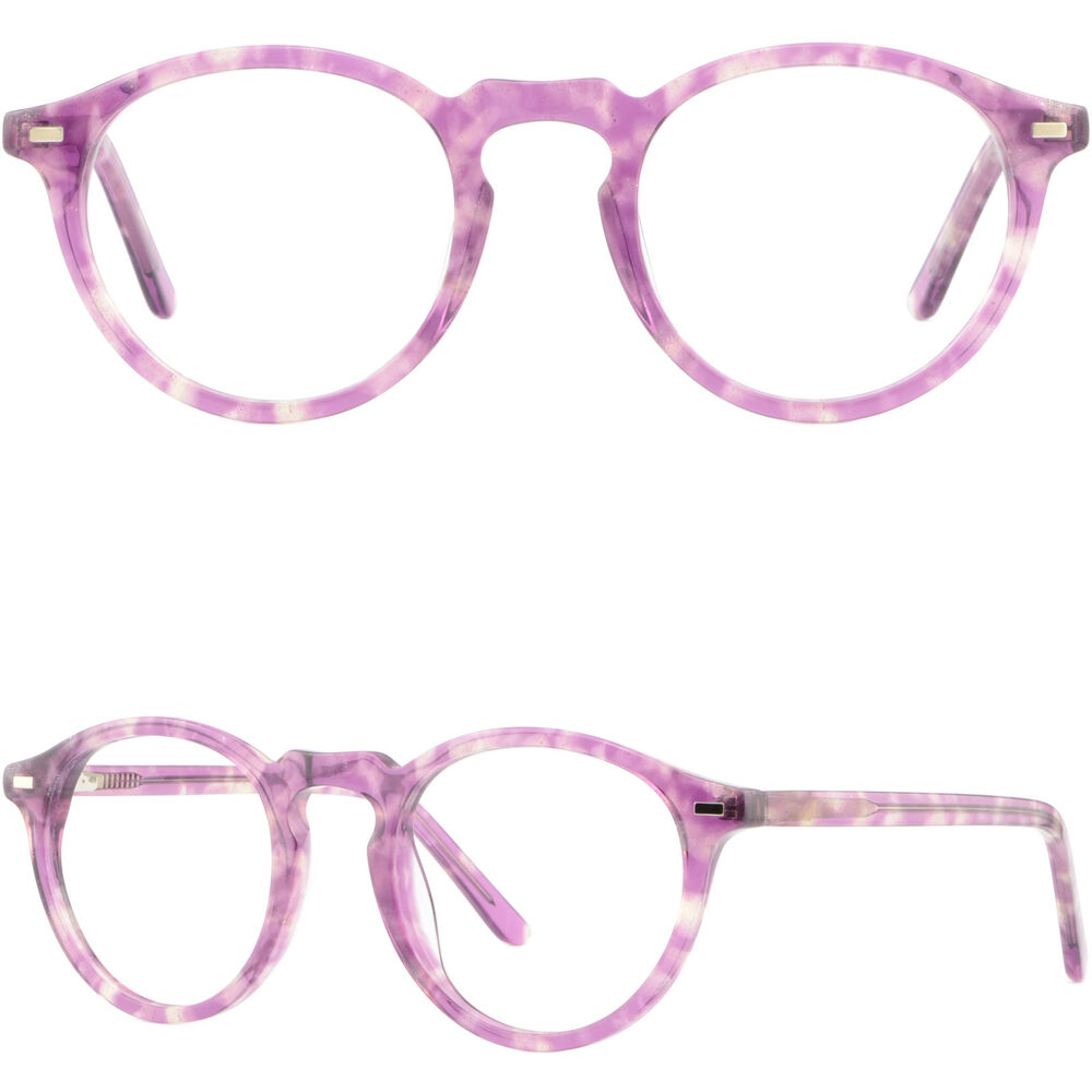 Lightweight Plastic Frame Glasses : Thin Light Men Women Frame Spring Hinge Plastic Acetate RX ...