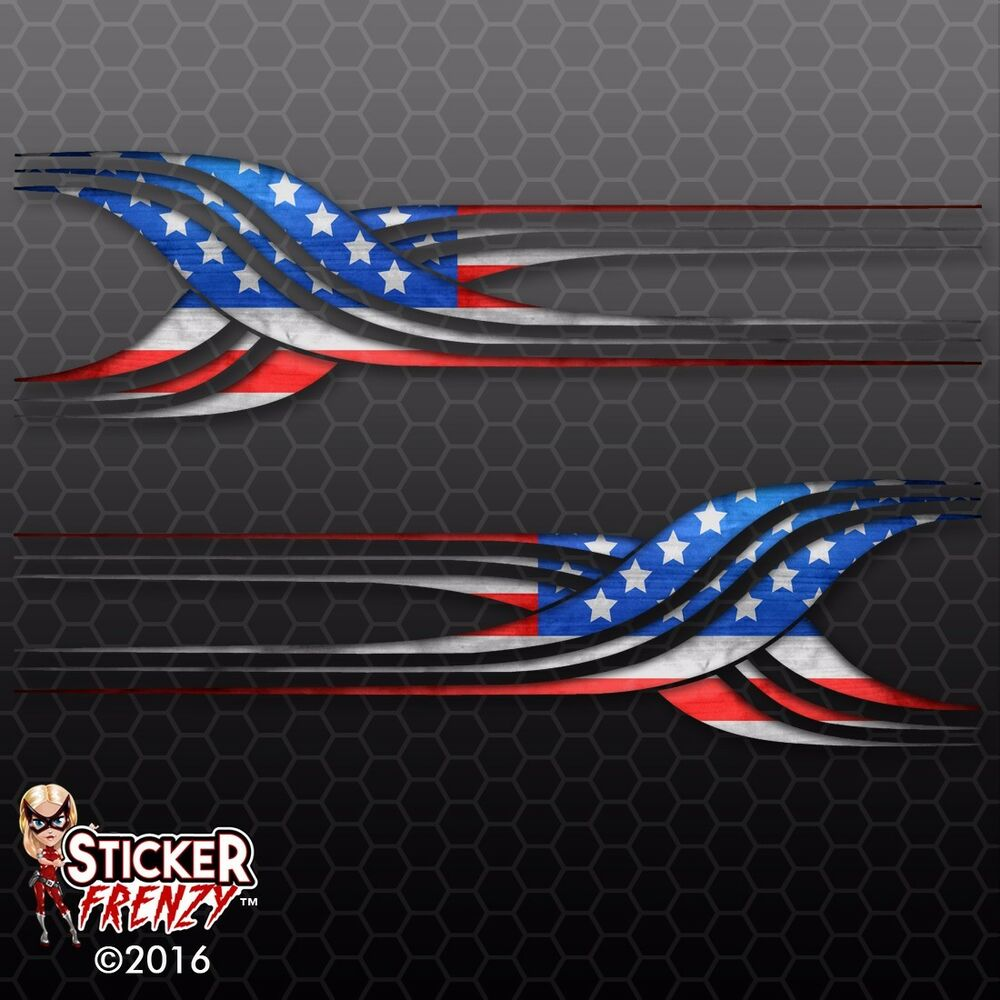Rv tribal usa flag decal american us truck camper for Decals for rv mural