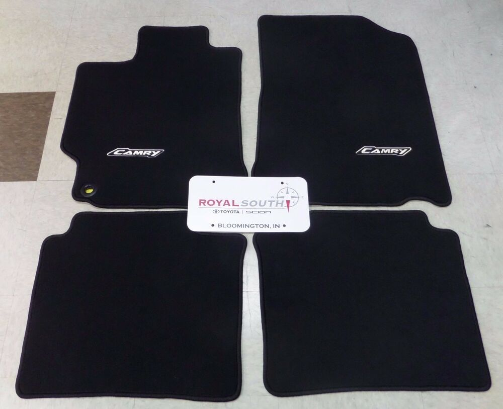 Toyota camry 2015 2017 black carpet floor mats genuine for Original toyota floor mats