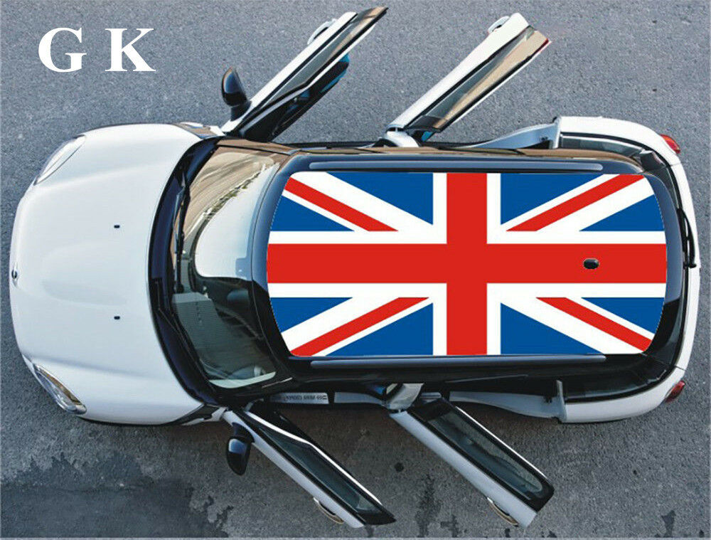 Union Jack Checkerboard Blue Whole Car Roof Decoration