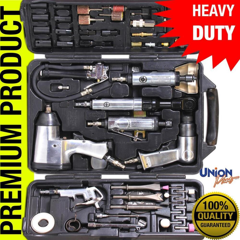 Heavy Duty Tools : Pc heavy duty power air gun tool kit ratchet wrench