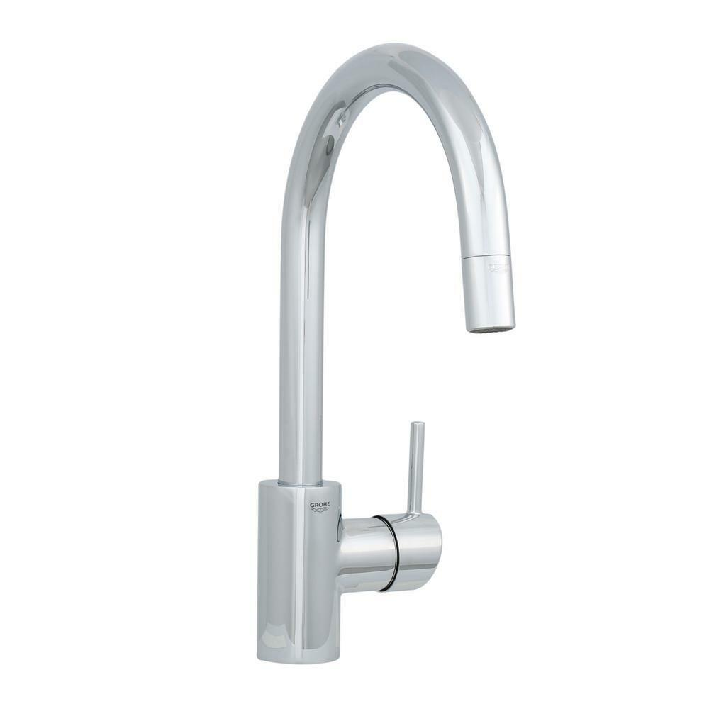 Grohe Kitchen Faucet Flexible Hose Replacement : Grohe concetto single handle pull out sprayer kitchen faucet in starlight chrome