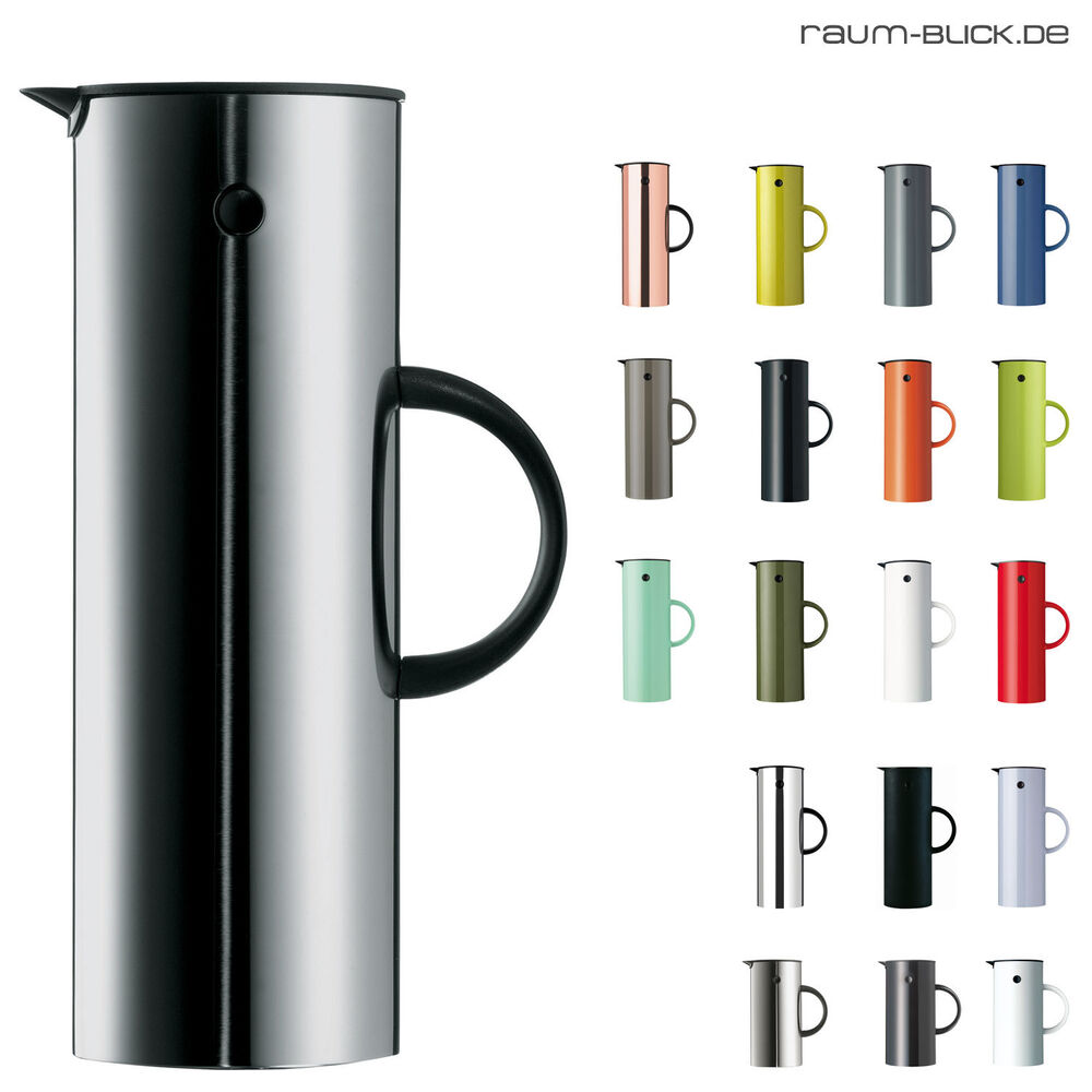 stelton isolierkanne thermoskanne 1 l 500 ml edelstahl versch farben ebay. Black Bedroom Furniture Sets. Home Design Ideas