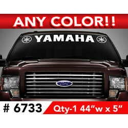 YAMAHA W-OUTLINE LOGOS WINDSHIELD DECAL STICKER 44''w x 5''h ANY 1 COLOR