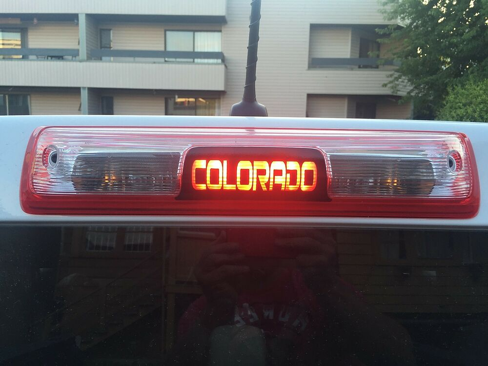 Truck Stickers For Back Window >> Chevy Colorado 2015 2016 2017 3rd Brake Light Decal | eBay