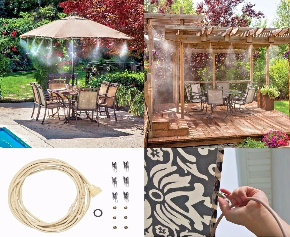 Patio Misting Systems Product : Outdoor water misting system air cooler patio mister kit